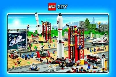 Lego Poster Cape Canaveral Space Ship Shuttle Rocket City Cityscape