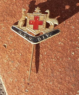 Nsw Division Red Cross Coat Of Arms Pin Badge