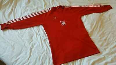 Adidas Goalkeeper Shirt No 1 Poland Badge Size Large Long Sleeve.