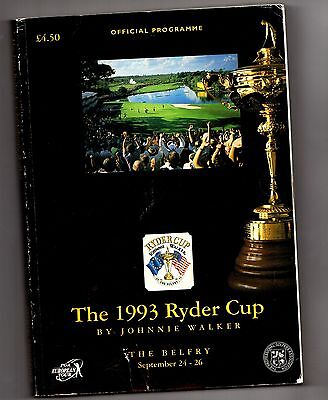 1993 Ryder Cup Official Programme POST FREE