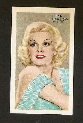 Jean Harlow Gallaher Champion Of Screen & Stage 1935 Vintage Photo Tobacco
