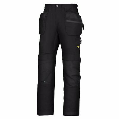 Snickers 6206 LiteWork Trousers Holster Pockets Mens Snickers Ripstop Black Pre