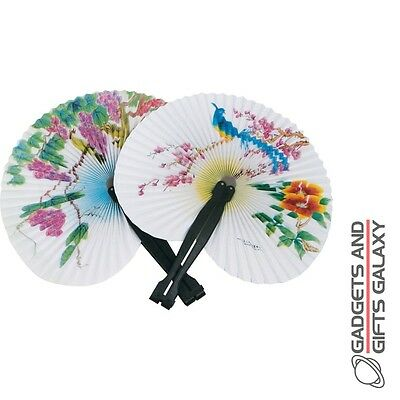CHINESE PAPER FAN TRADITIONAL ORIENTAL 26cm LONG toy gift novelty childs kids