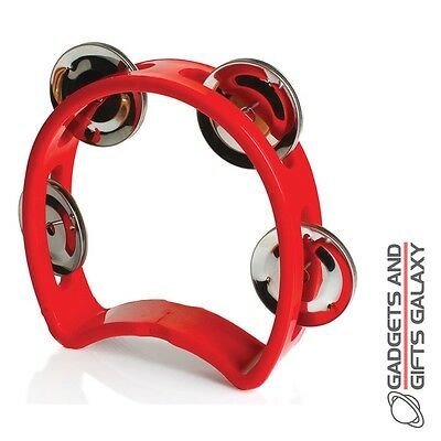 TAMBOURINE SMALL CHUNKY CHILD'S HAND SIZE musical toy gift novelty childs kids