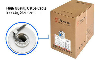 300 Metre Box of Cat5e Ethernet Cable - High Quality UTP Wire Unterminated