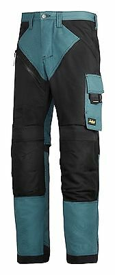 Snickers Trousers 6303 Ruffwork Non Holster Trousers Mens Petrol Blue Direct
