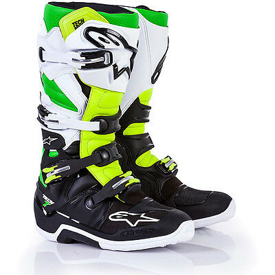 Alpinestars Tech 7 Boots Las Vegas LE in Black/Yellow/Green