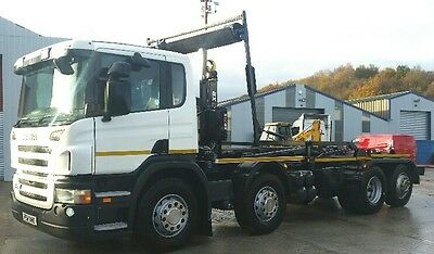 61 plate Scania P400 8x2 Hookloader. Euro 5.