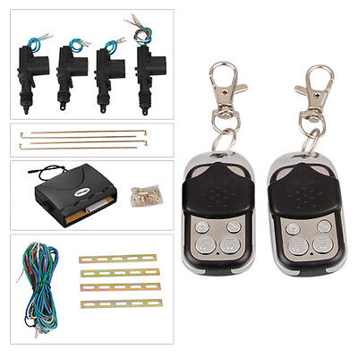 Remote Control Car Central Locking Actuator Security System Keyless Entry 4 Door