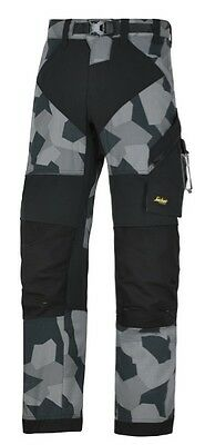 Snickers 6903 Flexiwork Ripstop Trousers Mens Snickers Ripstop Grey Camo Sni Pre