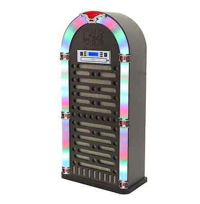 Bluetooth Jukebox Cd Player FM Radio LED Display 1950's Retro Christmas Gift NEW