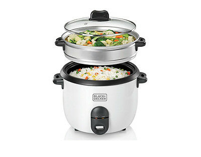 Black + Decker RC1860 Reiskocher 700 Watt Rice Cooker Dampfgarer Weiß; Y35