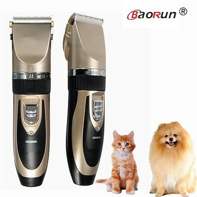 Grooming Kit Rechargeable Pet Cat Dog Hair Trimmer Electrical Clipper Shaver Set