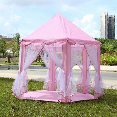 Portable Princess Castle Play Tent Children Activity Fairy House Indoor Outdoor