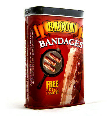 Bacon Strips - first aid in a tin - plasters / band aids