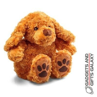 SNUGGLY PUP PLUSH DOG TOY HEAT IN MICROWAVE HOT WATER BOTTLE gadget gift childs