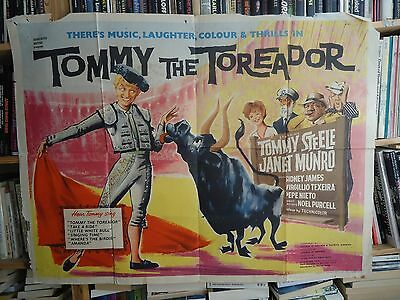 TOMMY STEELE/TOMMY THE TOREADOR/UK quad poster