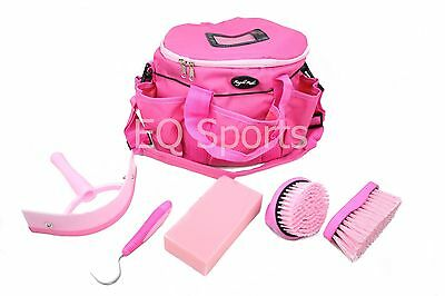 FREE P&P Knight Rider Canvas Tack Kit Bag & Grooming Accessories Pink !!