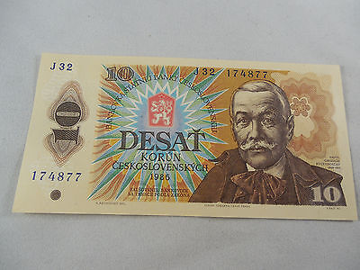 10 Korun 1986 Uncirculated Note From Czechoslovakia