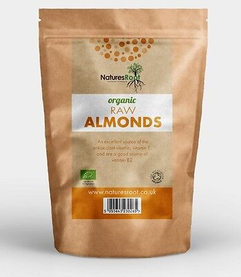 Organic Raw Natural Almonds - Shelled Premium Quality Edible Nuts - ALL SIZES