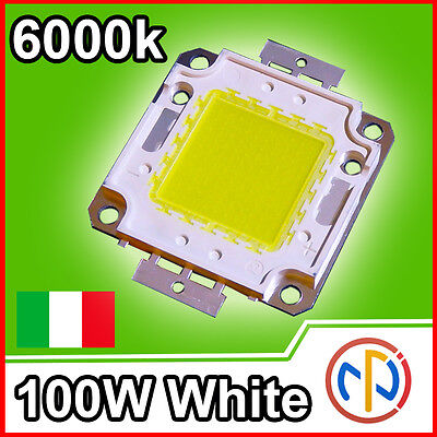 CHIP POWER LED 100W 36V 3A Bianco Naturale 6000-6500K Alta Luminosità