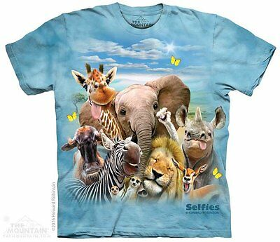 African Selfie Kids T-Shirt by The Mountain. Wild Elephant Zoo Animals Youth