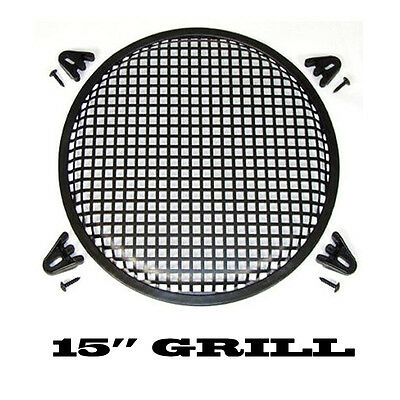 15 Inch Waffle Speaker Sub Woofer Metal Grills With Clips And Screws Dj-Car-Home
