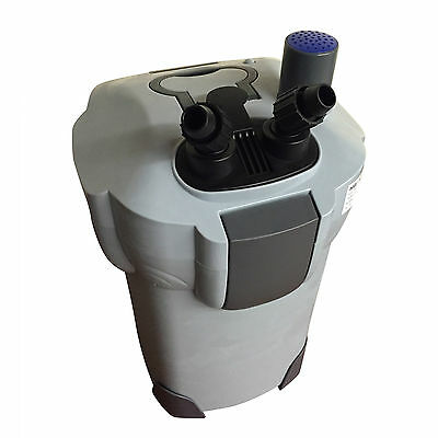 Aquarium Fish Tank External Filter Canister + FREE Media and 9W UV- UK