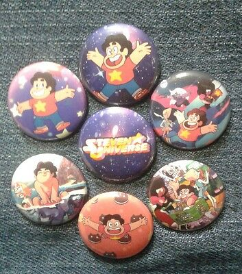 "1"" pinback buttons inspired  by ""Steven Universe"""