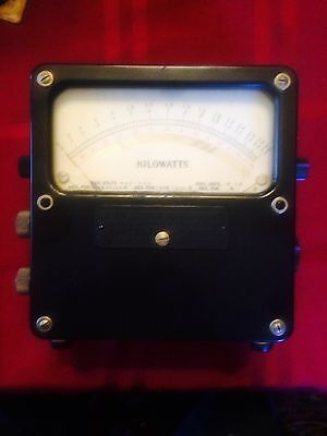 Vintage Weston Kilowatts meter Bakelite case Model 432 No. 14600
