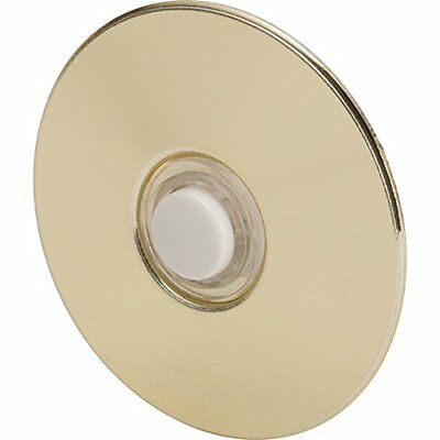 "Everyday Round Door Bell Chime Button, Size: 2-1/2"", Brass"