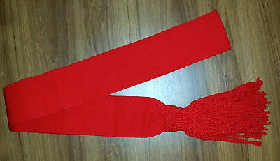 SCARLET RED INFANTRY SASH  - MINT NEW MADE AUSTRALIAN & BRITISH ARMY S to L