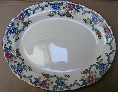 Royal Cauldron Platter In The Victoria (Floradora) Pattern C.1930 - 62