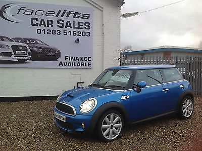 2009 Mini Cooper S 1.6, Electric Blue, Leather Seats, Low Miles