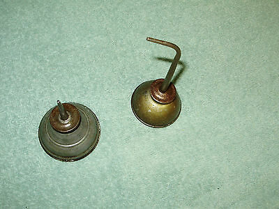 2,vintage 1930's 40's Metal Sewing Machine Oil Cans/small