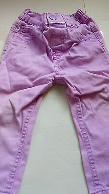Young dimension girls 12-18month purple jeans