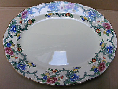 Royal Cauldron 33Cm Platter In The Victoria (Floradora) Pattern C.1930 - 62