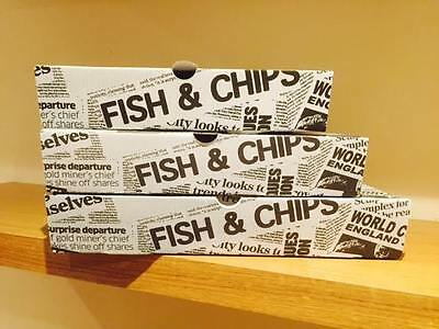 Disposable Fish & Chip Takeaway Food Container Box