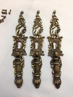 Salvage Antique or Vintage Solid Brass Door Closet Pulls