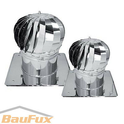 Chimney cap TURBOMAX 150 200 mm stainless steel rotating Cowl top
