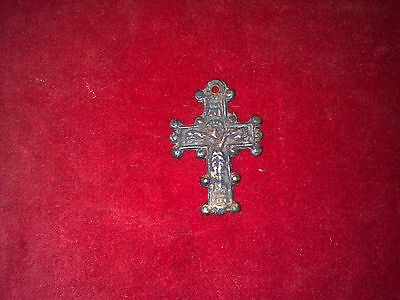 Antique Roman Bronze Cross!!