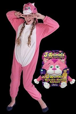 Janimals J-Animal Pink Cat Onesie Soft Toy and Pyjamas 6 - 8 Years warm camping