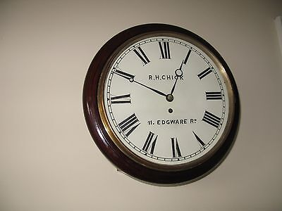 Antique Fusee Wall Clock-Genuine London Clock-R.h.chick 1851-75