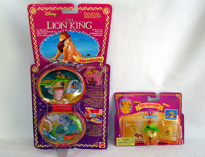 POLLY POCKET Tiny Collection Disney LION KING Playset Figures + Character Extras
