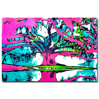Psychedelic Trippy Tree Abstract Art Poster