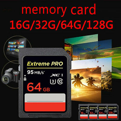 Storage Flash Memory Card For Camera 16/32/64/128GB 90MB/s SD SDHC Extreme