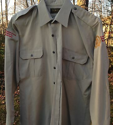 Canadian Pacific Railway running trades work shirt size large