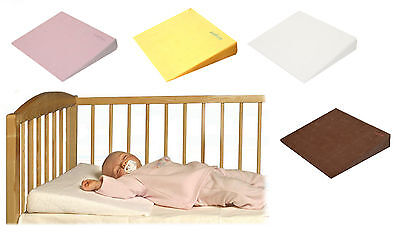 Baby Newborn Safety Foam Flat Pillow Cot Bed Anti Reflux Wedge Possitioner Cover