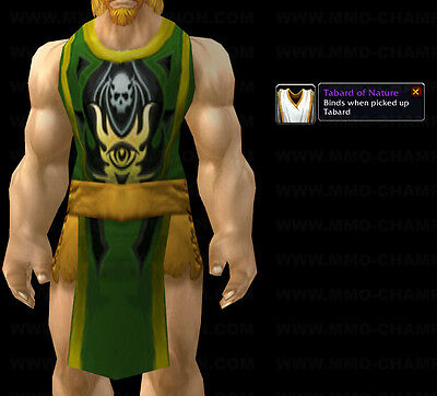 *** Tabard Of Nature - Green *** World Of Warcraft Wow Loot Tcg Ude