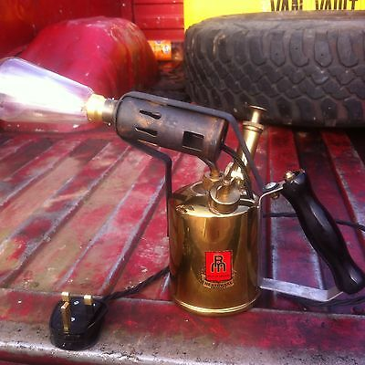 Industrial Steampunk Brass Blow Torch Table Lamp Light Upcycled